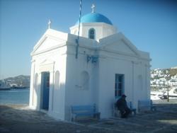 Griechische Inseln - Kleine Kapelle auf Mykonos